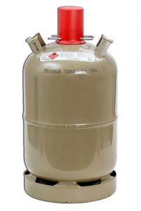 Stahl Gasflasche mit 11kg Inhalt